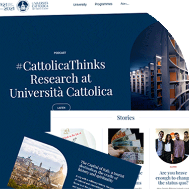 Università Cattolica 2021: a completely updated website in English to mark the centenary year